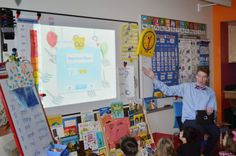 A teacher in the Concord School District in New Hampshire, USA, teaches a kindergarten class how to use TinyTap #kids #education
