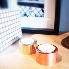 Tealight gold and copper (base collection) #lagerhaus