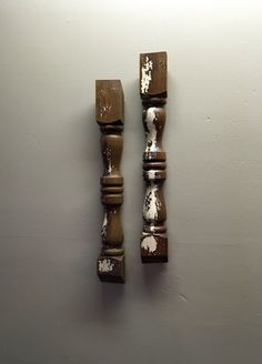 Spindle Wall Decor by AsIsRepurposedItems on Etsy https://www.etsy.com/listing/398141021/spindle-wall-decor