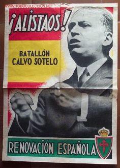 Spain - 1936-39. - GC - poster - Unidades: Voluntarios de Renovación Española | Nacionales | Unidades