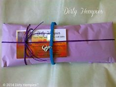 Blue Kyanite Macrame Necklace TieOn Hemp Necklace by DirtyHempies, $22.00