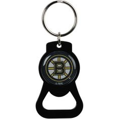 Boston Bruins Bottle Opener Keychain - Black
