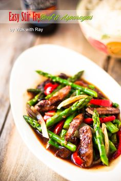 Beef-Asparagus Stir Fry by @Wok with Ray