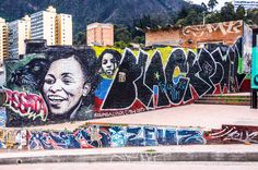 A photo tour of the amazing street art & graffiti found throughout the colorful town of Bogota, Colombia. Assata Shakur.