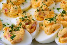 If Thought Deviled Eggs Couldn't Get Any Better, You Have Got To Try This Recipe With Cheddar Cheese & Bacon! Deviled eggs are a classic side dish at any barbecue, cook-out