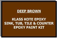 Deep Brown Bathtub Painting Kit