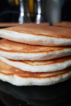 Make delicious fluffy pancakes from scratch. This recipe uses 7 ingredients you . - Make delicious fluffy pancakes from scratch. This recipe uses 7 ingredients you probably already ha - Pancakes From Scratch, How To Make Pancakes, Pancakes Easy, Pancakes And Waffles, Fluffy Pancakes, Buttermilk Recipes, Coconut Recipes, Buttermilk Pancakes, Brunch Recipes