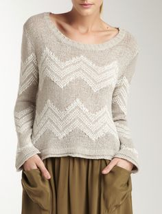 Chevron Slouchy Sweater/ also... skirts/dresses with pockets!!!!