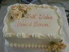 50th anniversary sheet cakes pictures | Rose Spray Golden Wedding ...