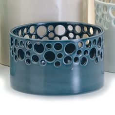 Lacey ceramic bowl - a couple of these together make a great statement
