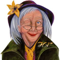 Image result for animated gif of old lady winking