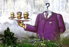 Der Street Artist Kislow aus der Ukraine hebt sich durch seinen besonderen Stil von seinen Kollegen ab