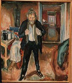 Self-Portrait (in distress) - Edvard Munch