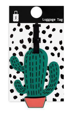 Etiqueta para equipaje forma de cactus