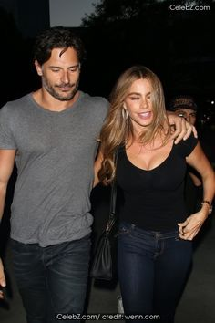 Joe Manganiello And girlfriend Sofia Vergara arrive at the Staple Center for the Justin Timberlake concert http://icelebz.com/events/joe_manganiello_and_girlfriend_sofia_vergara_arrive_at_the_staple_center_for_the_justin_timberlake_concert/photo1.html