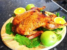 This roasted duck is to die for. It has sweet and salty taste from honey and oranges. Roasted duck stuffed with apples is a characteristic Russian and Eastern