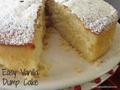 The first of our easy dump cake recipes is this classic vanilla dump cake. This cake recipe is great for any occassion. Sweets Cake, Cupcake Cakes, Cupcakes, Dump Cake Recipes, Dessert Recipes, Frosting Recipes, Dessert Ideas, Cake Ideas, Dump Meals