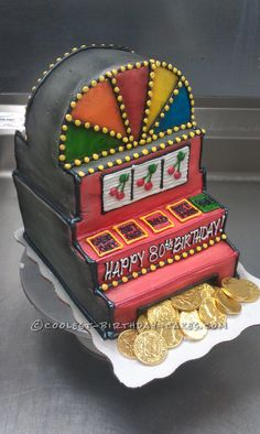 Coolest Slot Machine Birthday Cake... This website is the Pinterest of birthday cake ideas