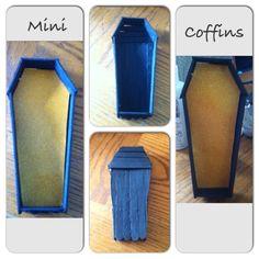 Coffin, Mini coffin box, Halloween decor, jewelry box, office supply box, mini box, custom made - pinned by pin4etsy.com