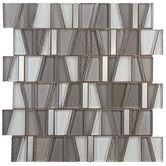 Found it at AllModern - Trapeze Random Sized Glass and Brushed Aluminum Mosaic in Gray