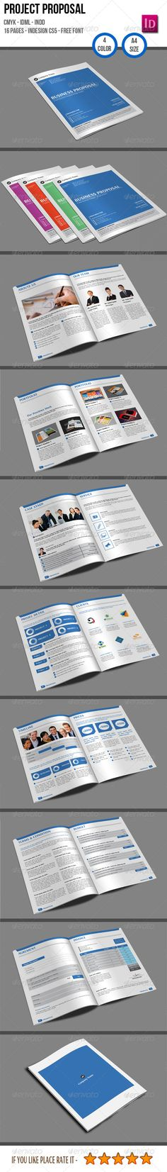 Business Project Proposal Template InDesign INDD #design Download - design proposal