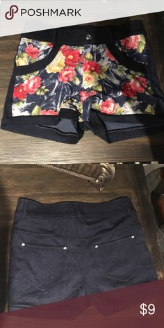 ⚡️NEW Printed Shorts⚡️ really really soft! brand new, only worn once. bought at a local boutique. even though they're a small, they're surprisingly stretchy. I'm a medium to large in shorts and they fit me perfectly Sister Saviour Shorts Jean Shorts