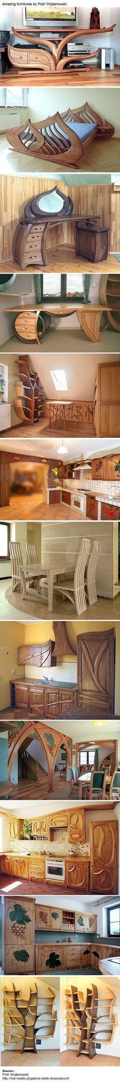 Amazing furnitures by Piotr Wojtanowski: