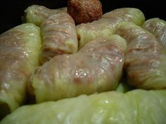 Comfy Cuisine- Home Recipes from Family & Friends: Polish Stuffed Cabbage Rolls with Grandma Cabbage Rolls Polish, Cabbage Wraps, Cabbage Rolls Recipe, Hungarian Stuffed Cabbage, Polish Stuffed Cabbage, Beef Recipes, Cooking Recipes, Pastry Recipes