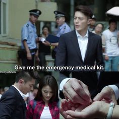 *for some reason i really loved this part, he suddenly shows super concern taking care of her wound, then leaves the band aid half on. I love his character in this one so much (♡.♡)*Love Me If You Dare #chinese #drama
