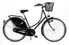 28 Zoll Hollandrad Damen Hollandfahrrad Nostalgierad Cityrad Fahrrad 3 Gang schwarz mit Korb neu kaufen