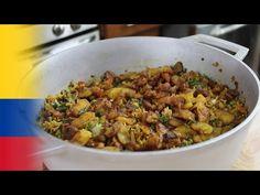 Cómo hacer Arroz con lentejas - YouTube Cilantro, Fried Rice, Risotto, Grains, Food And Drink, Healthy Recipes, Ethnic Recipes, Chevron, Youtube