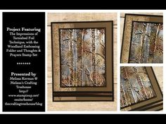 This video includes instructions for creating a card made with Melissa Kerman's Impressions of Tarnished Foil Technique, with layers of heat and dry embossin...