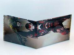 Comic Book Wallet// Iron Patriot lifting Cyclops, $4.00