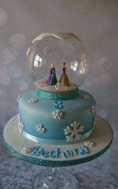 Frozen snowglobe cake