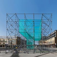 Anna Borgman and Candy Lenk's installation LUFTSCHLOSS on Alice-Salomon-Square Berlin in spring of 2012. The temporary urban intervention is 2300 m3 in size and is divided into four phases; showing different stages of transformation.
