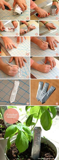 DIY Pop Can Garden Markers