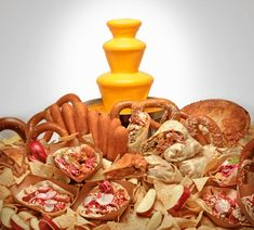 Tired of plain old chocolate fountain? Try Nacho cheese, maple syrup, cream cheese frosting, ranch dressing, etc...