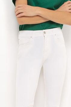 High waist White jeans Cimarron