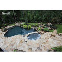 Cordelio x Honed Travertine Chair Rail Tile Trim in Brown Small Backyard Pools, Backyard Pool Landscaping, Backyard Pool Designs, Small Pools, Swimming Pools Backyard, Lap Pools, Indoor Pools, Pool House Designs, Landscaping Ideas