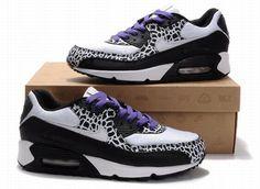 Mens Black White Purple Nike Air Max 90 Fashion Shoes 18695