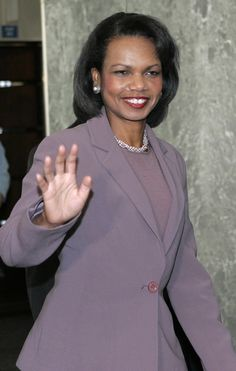 Condoleezza Rice, first black female Secretary of State. Also first National Security Adviser, both to President George Bush.