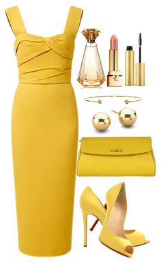 """""""Untitled #3516"""" by natalyasidunova ❤ liked on Polyvore featuring Burberry, Christian Louboutin, Fendi, Forever 21, Dezso by Sara Beltrán, PUR, AERIN, women's clothing, women's fashion and women"""
