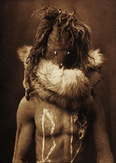 Navajo Indian Medicine Man with mask