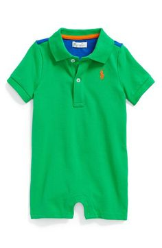 Ralph Lauren Polo Romper (Baby) available at #Nordstrom