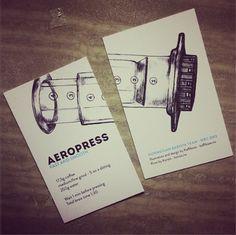 Nice aeropress recipe business card idea dude!!