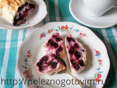 Самая простая и быстрая выпечка к чаю! Творожно-ягодный рулет из лаваша