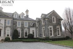 House Exterior Stone Mansions Ideas For 2019 Colonial Mansion, Colonial Exterior, Modern Exterior, Exterior Homes, Stone Mansion, Dream Mansion, Dream House Exterior, Dream House Plans, Villas