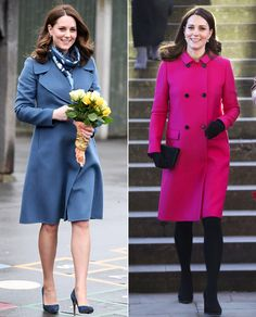 Pink or Head-to-Toe Blue? Pregnant Kate Middleton Gives Equal Time to Both, Keeps Everyone Guessing