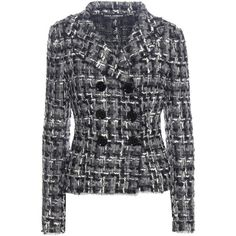 Dolce & Gabbana Wool and Cotton-Blend Tweed Jacket ($2,795) ❤ liked on Polyvore featuring outerwear, jackets, multicoloured, multi colored jacket, dolce gabbana jacket, tweed jacket, multi color jacket and colorful jackets