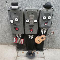in Stockholm, Sweden, Graffiti Murals, Street Art Graffiti, Things With Faces, Urbane Kunst, Urban Street Art, Mural Wall Art, Outdoor Art, Funny Art, City Art